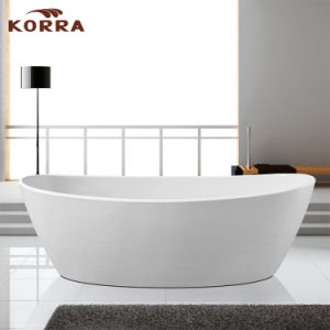 Classic Design Freestanding Acrylic Bathtub with Pop-up Drainer pictures & photos