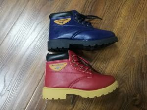 Hot Sale China Factory Children Boots PU Material Winter Boots pictures & photos
