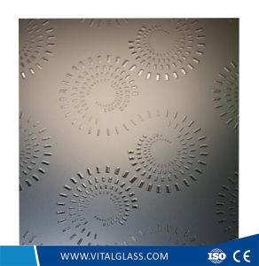 Decorative Acid Etched Glass for Kitchen and Bathroom pictures & photos