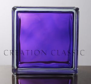 190*190*80mm Purple in-Colored Cloudy Glass Block pictures & photos