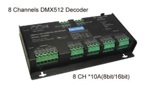 DMX512 Decoder 8CH*10A 8bit/16 Bit pictures & photos