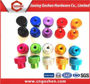 Top Quality Colourful Aluminum Knurled Nut pictures & photos
