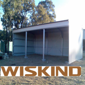 Corrugated Single Sheet C-Section Steel Construction Garage pictures & photos