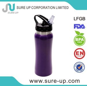 Hot Selling Portable Durable Single Wall Stainless Steel Sport Bottles with Straw Lid pictures & photos