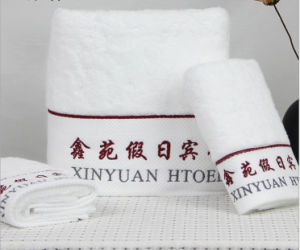 Promotional Hotel / Home Cotton Bath / Face / Hand Towels with Logo pictures & photos