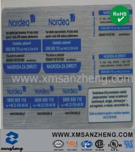 Silver Hair-Line Pet Serial Number Stickers pictures & photos