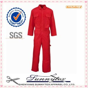 Custom Full Protective Red Coverall Long Sleeve Uniform Suit Workwear pictures & photos