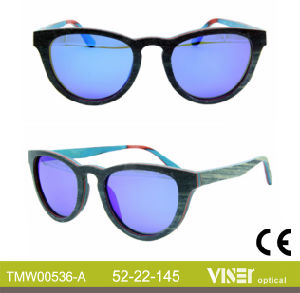 Fashion Wooden Sunglasees with High Quality (536-A) pictures & photos