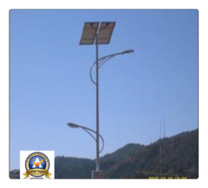 10m 80W Solar LED Street Light with Double Arms pictures & photos