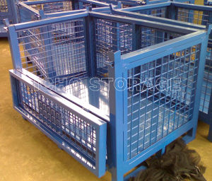 Warehouse Storage Foldable Wire Mesh Metal Stacking Container pictures & photos