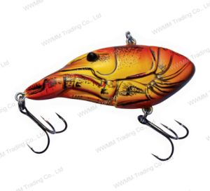 Top Grade Plastic Fishing Lure/ Bass Lure--UV Coated Craw Shape Vib (HW008) pictures & photos