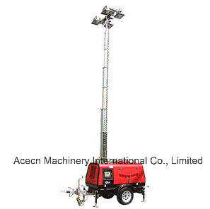 Mobile Light Tower 9m 6000W with Kutoba Engine