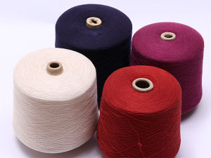 Virgin High Quality Ring Spun Technics Dyeing Polyester Yarn pictures & photos