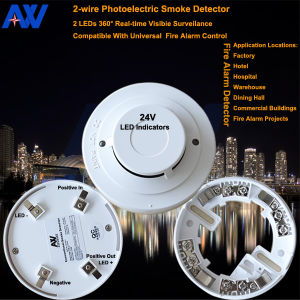 Cigarette Indoor Wired Smoke Detector pictures & photos