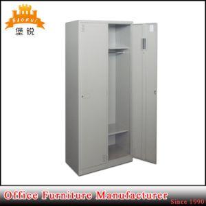 Bedroom Furniture Steel 2-Door Storage Clothes Wardrobe Cabinet pictures & photos