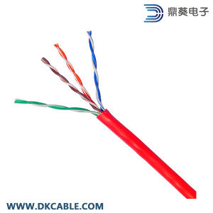 Red Color Cat5e UTP 4pairs 24AWG LAN Cable pictures & photos