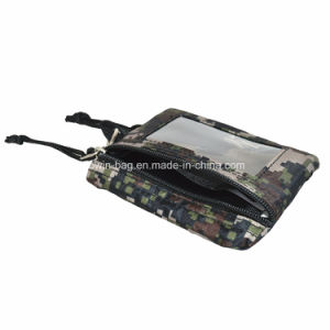 Camouflage Checked Fabric Made Coin Pouch pictures & photos