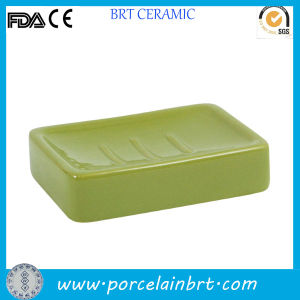 Eco-Friendly Green Rectangular Soap Holder pictures & photos