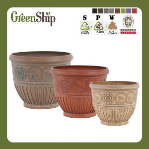High Quality UV-Protective Eco-Friendly Plastic Garden Planter/Flower Pots