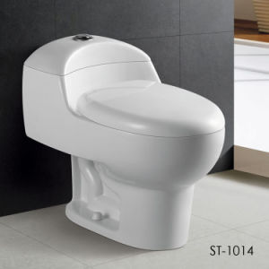 Sanitary Ware One-Piece Toilet, Siphon Vortex with Jet (ST1014)
