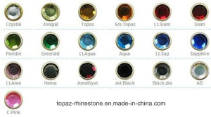 Shine Stone Nail Strass Metal Rimmed Rhinestones Silver Gold Rimmed Stone (HF-SS10/3mm) pictures & photos