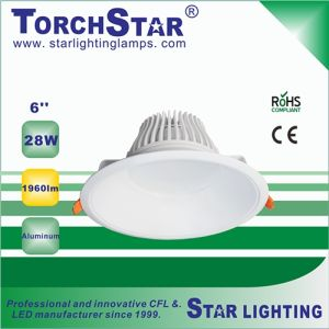28W Round 1960lm Aluminum COB LED Down Light