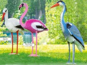 Garden Decoration Animal Flamingo/ Blue Heron/Crane/ Fake Bait, Fake Birds/Bird Repellent