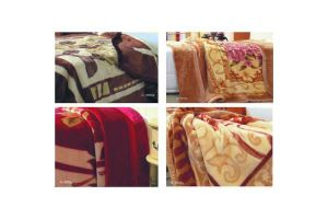 2015 Polyester Raschel Blanket pictures & photos