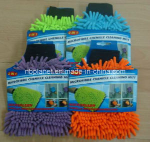 Double Sides Chenille Car Wash Cleaning Mitt pictures & photos