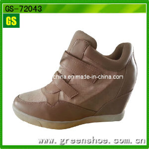 Brown Women Fashion High Heel Shoes pictures & photos