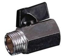 Forging M*F Brass Mini Ball Valve with Aluminium Handle (YED-A1051)