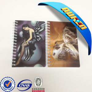Promotional Items Plastic Cover 3D Effect Notebook pictures & photos
