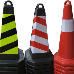 EVA Traffic Cones with Rubber Base Height 50cm pictures & photos