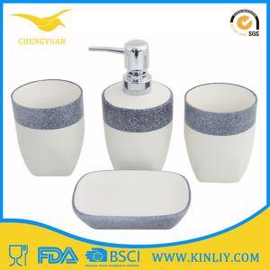 China Ceramic Glazed Bath Set Lotion Dispenser Bathroom Accessory pictures & photos