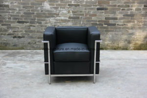 Modern Classic Office Leather Sofa with Stainless Frame (LC2) pictures & photos