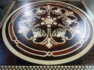 Wooden Art Designed Medallion Parquet Floors