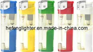 Refillable Electronic Plastic Lighter LED