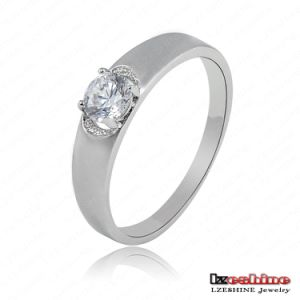 Simple Round Zircon Wedding Love Ring (CRI0029-B)