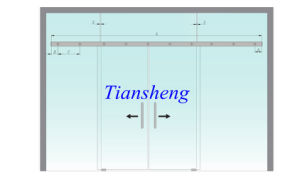 Frameless Sliding Door/Glass Partition/Tempered Glass Sliding Gate pictures & photos