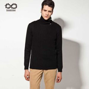 ODM Wool Acrylic Turtleneck Button Pullover Man Sweater pictures & photos
