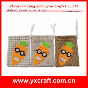 Easter Decoration (ZY16Y722-1-2-3) Easter Felt Carrot Bag Candy Bag Rabbit OEM Item pictures & photos