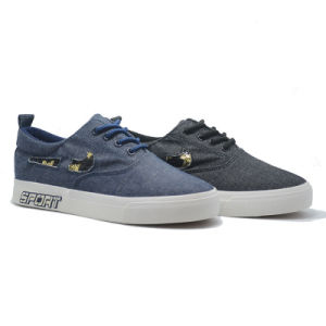 Denim Sport Paillette Classical Student Rubber Women Men Pantshoes pictures & photos