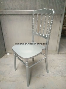 Popular Silver Color Wooden Napoleon Chair for Sale pictures & photos