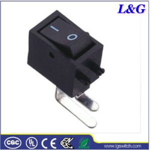 Vertical Right Angle PC Thru-Hole Mini Rocker Switch for TV/Audio