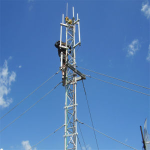 Telecommunication Galvanized Steel Lattice Tubular Guyed Wire Mast Antenna WiFi Microwave Radio Telecom Communication Tower pictures & photos
