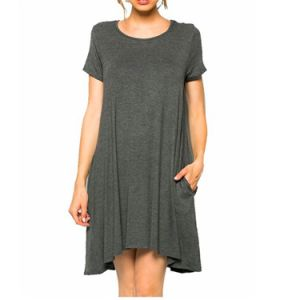 Women′s Casual Tshirt Pocket Dresses pictures & photos