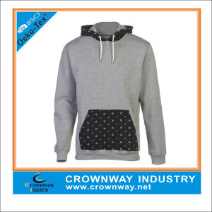 Mens Fancy Pullover Hoodies with Two Color Fabric pictures & photos