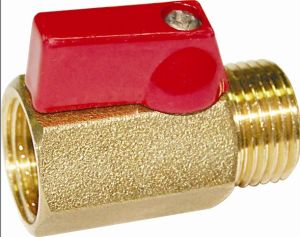 Female X Male Polished Chrome Brass Mini Ball Valve (a. 0130) pictures & photos