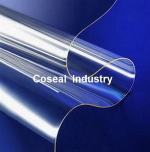 Flexible Light Blue Super Clear Plastic Fabric PVC Sheet pictures & photos