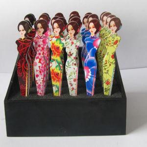 Expert Tweezers Printed Cheongsam Woman (T-108)